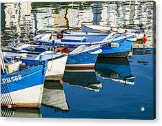 Boats At Anchor Acrylic Print
