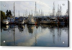 Acrylic Print featuring the photograph Boats At Marina On Liberty Bay by Greg Reed