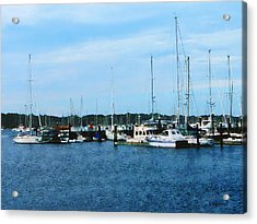 Acrylic Print featuring the photograph Boats At Newport Ri by Susan Savad