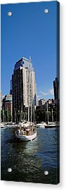 Boats At North Cove Yacht Harbor, New Acrylic Print by Panoramic Images