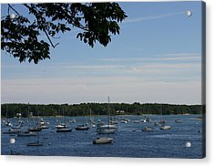 Acrylic Print featuring the photograph Boats At Rest by Denyse Duhaime