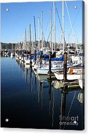 Boats At Rest. Sausalito. California. Acrylic Print by Ausra Huntington nee Paulauskaite
