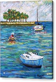 Boats At St Petersburg Acrylic Print