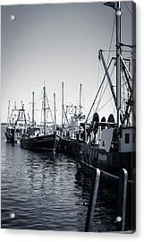 Boats At The Pier  Acrylic Print