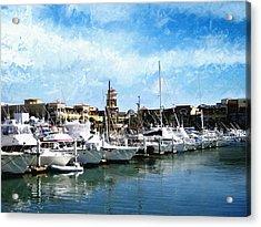 Boats Cabo San Lucas Acrylic Print by Ann Powell