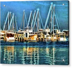 Boats Acrylic Print by Clare VanderVeen