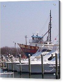 Boats Docked Acrylic Print by Pharris Art