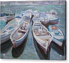 Boats Acrylic Print by Elena Sokolova