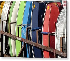 Boats For Rent Acrylic Print by Carolyn Bistline