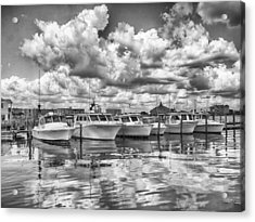 Acrylic Print featuring the photograph Boats by Howard Salmon