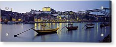 Boats In A River, Douro River, Porto Acrylic Print by Panoramic Images