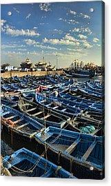 Boats In Essaouira Morocco Harbor Acrylic Print by David Smith