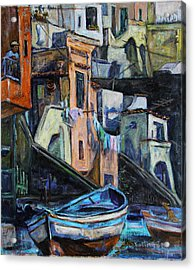 Boats In Front Of The Buildings I  Acrylic Print
