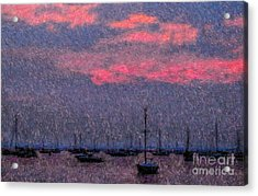 Boats In Harbor Acrylic Print by Jeff Breiman