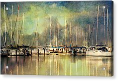 Boats In Harbour Acrylic Print