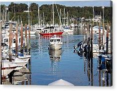 Boats In Huntington Harbor Acrylic Print