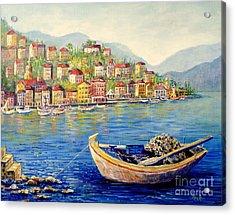 Boats In Italy Acrylic Print