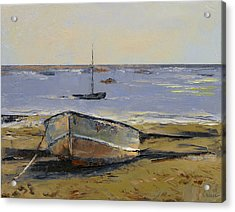 Boats In Provincetown Harbor Acrylic Print