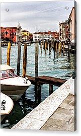 Boats In Venice Acrylic Print