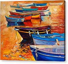 Boats Acrylic Print by Ivailo Nikolov