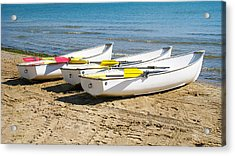 Acrylic Print featuring the photograph Boats by Milena Ilieva