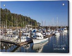 Boats Moored At Charleston Marina Acrylic Print
