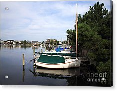 Boats Of Long Beach Island Color Acrylic Print by John Rizzuto