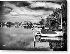 Boats Of Long Beach Island Acrylic Print by John Rizzuto