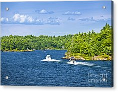 Boats On Georgian Bay Acrylic Print by Elena Elisseeva