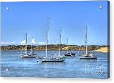 Boats On The Bay Acrylic Print