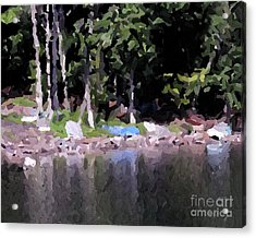 Boats On The Beach Acrylic Print