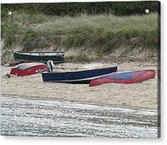 Boats On The Beach Acrylic Print by Marci Spotts