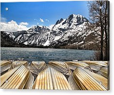 Boats On The Shore Acrylic Print by Edward Hamm