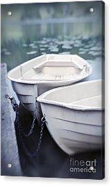 Boats Acrylic Print by Priska Wettstein