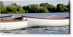 Boats Acrylic Print by Stefan Petrovici