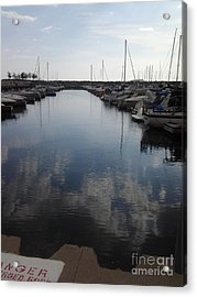 Boats Acrylic Print by Susan Townsend