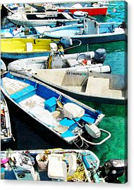 Boats Tied Up Acrylic Print