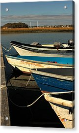 Acrylic Print featuring the photograph Boats Waiting by Amazing Jules