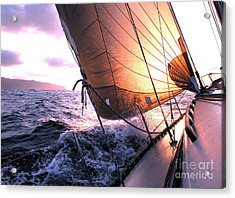 Boats Wing  Acrylic Print by Boon Mee