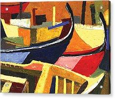 Boatyard Acrylic Print by Ahmed Amir