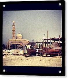Boatyard Dubai Acrylic Print by Maeve O Connell