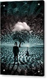 Bob Dylan A Hard Rain's A-gonna Fall Acrylic Print by Mal Bray