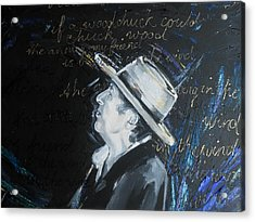 Bob Dylan - Blowing In The Wind Acrylic Print by Lucia Hoogervorst