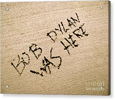 Bob Dylan Graffiti Acrylic Print