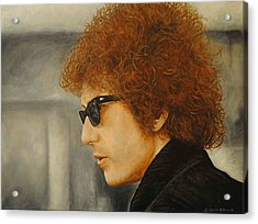 Acrylic Print featuring the painting Bob Dylan IIi by David Dunne