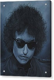 Acrylic Print featuring the painting Bob Dylan Iv by David Dunne