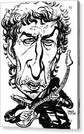 Bob Dylan Acrylic Print by John Ashton Golden