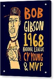 Bob Gibson St Louis Cardinals Acrylic Print by Jay Perkins