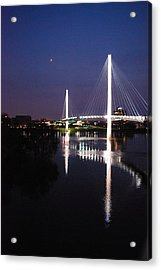 Bob Kerry Pedestrian Bridge Acrylic Print by Joy Bradley