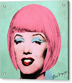 Bob Marilyn  Variant 2 Acrylic Print by Filippo B